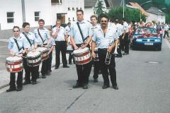 Fanfarenzug bei der Jubiläumsfeier des Habacher Karnevalvereins (im Sommer)