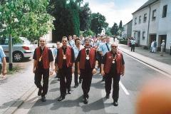 Elferrat bei der Jubiläumsfeier des Habacher Karnevalvereins (im Sommer)