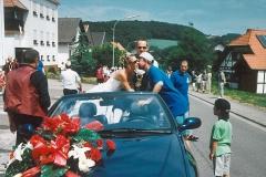 Prinzenpaar bei der Jubiläumsfeier des Habacher Karnevalvereins (im Sommer)