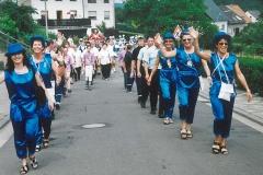 Umzug zur Jubiläumsfeier des Habacher Karnevalvereins (im Sommer)