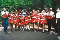 Junggarde bei der Jubiläumsfeier des Habacher Karnevalvereins (im Sommer)